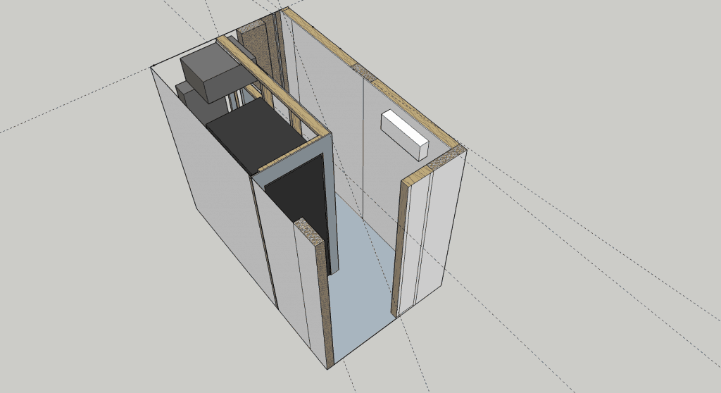 Server Room - SketchUP Drawing of the Room Design