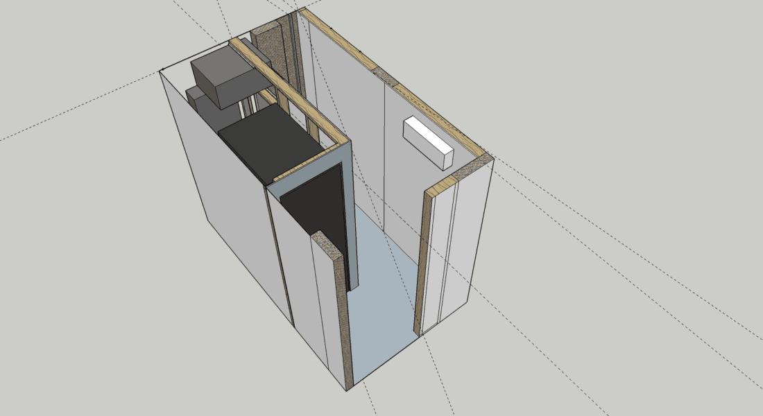 Server Room MockUp using SketchUP
