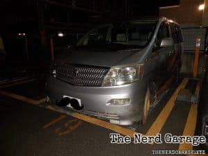Toyota alphard damage