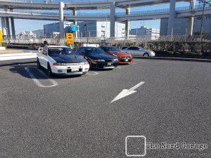 GTR's at Daikoku Parking area