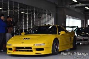 Yellow Honda NSX at Fuji Speedway