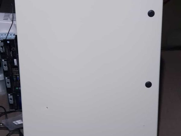 Electrical cabinet door closed